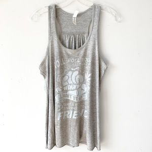 Tops - Roll & Pass Green Thumb Joint Racerback Tank Top